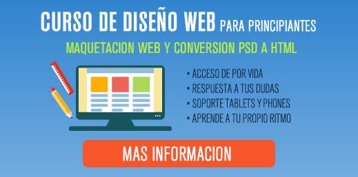 Curso de Diseño Web para principiantes