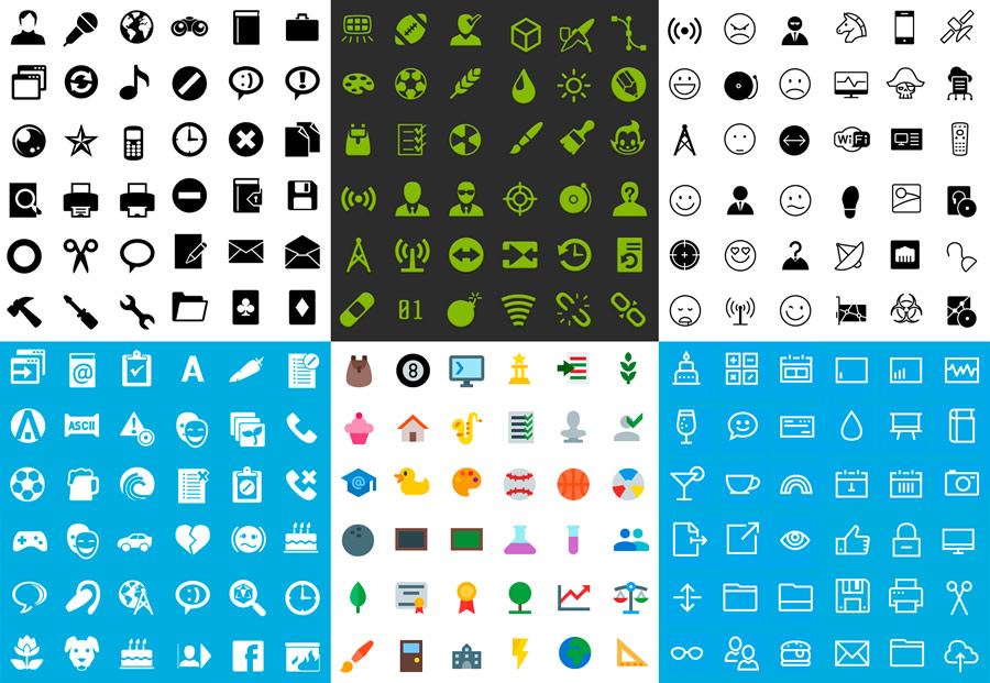 iconos para dispositivos moviles